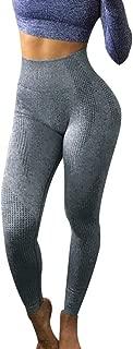 KINGOLDON Women's Yoga Pants Hips Seamless Jacquard high Waist Quick Dry Pants Fitness Sports Pants