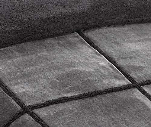 Manterol Manta Plaid Gris 150x200 cm CUADRATO