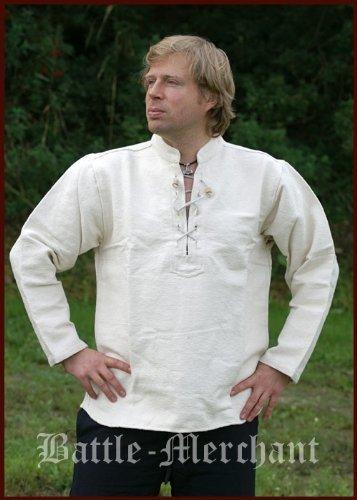 Moyen lourd chemise de pirate pour homme en coton/fixation à la main naturel Taille XXXL