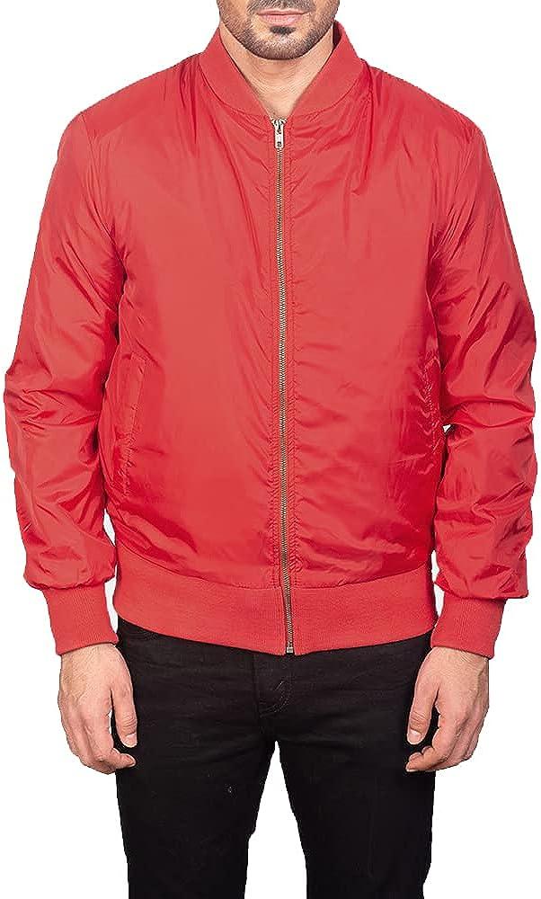 The Mohrim Men's Bomber Lightweight Jacket All Season Windbreaker Spring Fall Fleece Casual Jackets For Adult