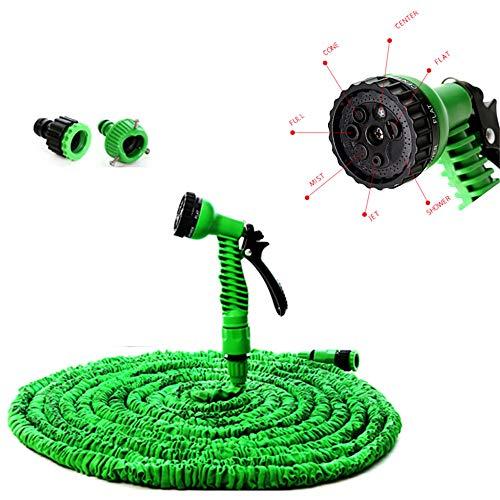 Lichtgewicht En Kink Gratis Flexibele Waterslang, Uitbreidbaar Tuinslang Met 7 Function Sproeier Voor Tuin Gazon Car Watering Planten,2.5M