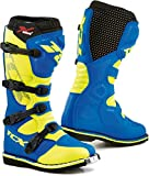 9670 - TCX X-Blast Motocross Boots 45 Royal Blue Yellow Fluo (UK 10)