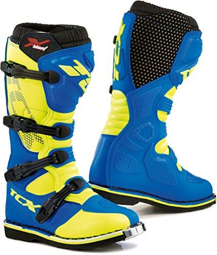 9670 - TCX X-Blast Motocross Boots 45 Royal Blue Yellow Fluo (UK 10)