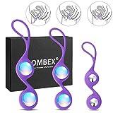BOMBEX Kegel Vagina Balls - Premium Silicone Weighted Ben Wa Balls,Vagina Tightness & Bladder Control Exerciser,Set of 3
