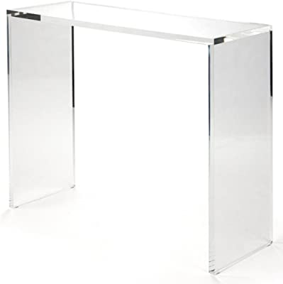 lucite sofa table modern luxe furniture 64 amazoncom pure décor acrylic console table clear kitchen dining