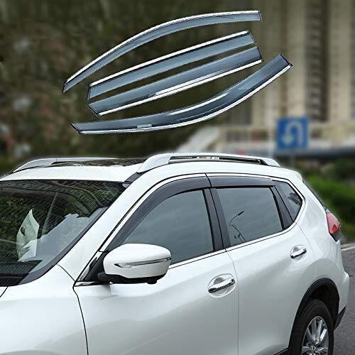 Auto Deflettori Compatibile con Nissan Qashqai 2016-2019, porta laterale Deflettori del vento della visiera pioggia Shields Guardia Vent Cover adatta Protector esterno 4 pezzi