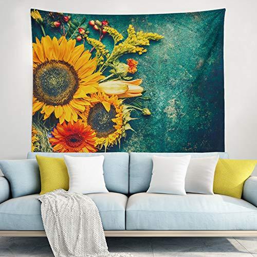Süßer Hunde-Wandteppich, Wandteppich, Heimdekoration, Wandteppich, hübsches und schickes Mandala-Bohemian-Wohnheim-Dekor, Hippie-Wandteppich für Heimdekoration, sonnenblume