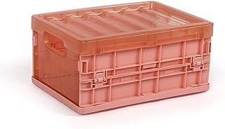 shiftX4 Boîtes de rangement pliables transparentes avec double poignée rectangulaire creuses