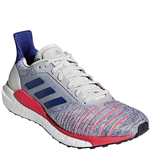 adidas Women's Solar Glide Running Shoes Raw White/Active Blue/Shock Red 9