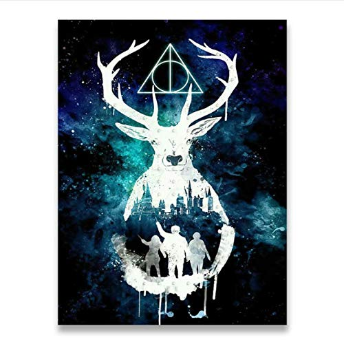 daerduotutu Harries Poster Deer Potter'S Canvas Painting Movie Posters Wall Art Living Room A26 50×70CM Without Frame