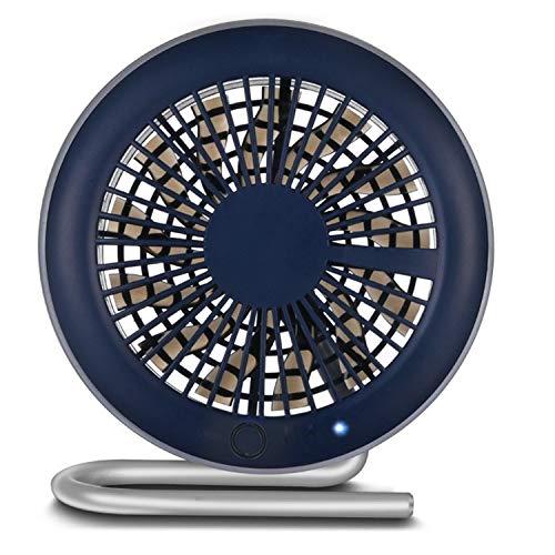 Happy Lemon praktische modieuze mini-ventilator, voor kantoor, nachtkastje, klein, oplaadbaar, usb-modus, Donkerblauw