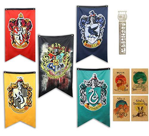 TPOTTER 5pcs[125X70CM] cumpleaños Banners y Banderas para Harry Party Decoraciones Potter Regalos Suministros Flag Banner decoración