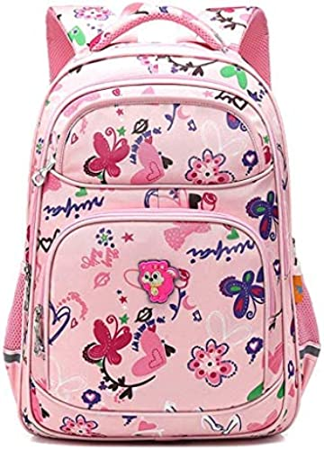 YHDD Schultaschen, Gründschulkinder Schultaschen, mädchen, 1-3-6 Klasse Kinderrucks e, 6-12 Jahre Alten mädchen Schultaschen Rosa