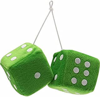 vintage green dice