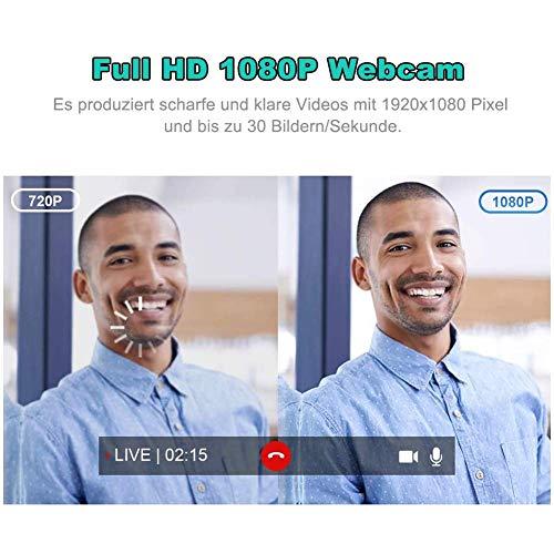 RLBUNZ Webcam für PC 1080P
