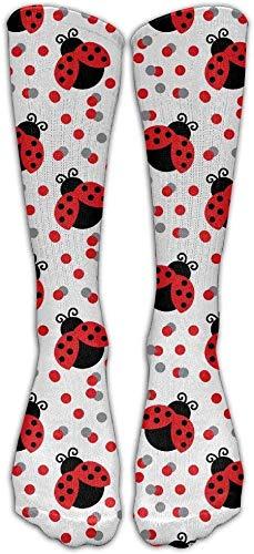 Seamless Spot Red Marienkäfer Casual Unisex Socke Knielange Hohe Socken Sport Athletic Crew Socken One Size