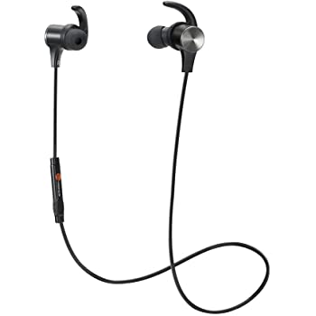 Bluetooth Headphones TaoTronics Wireless Magnetic Earbuds Snug Fit for Sports with Built in Mic TT-BH07 (IPX6 Waterproof aptX Stereo 6-8 Hours Playtime)