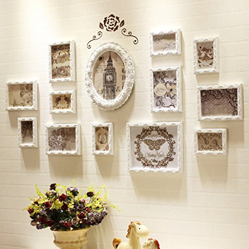 Grand Ensemble de Cadres de Photo de Photo de Multi Set 13 Morceaux pour Le Mur de Chambre à Coucher de Salle de séjour -LI Jing Shop (Taille : 133cmX70cm)