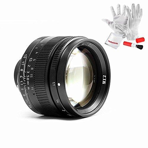 7artisans 50mm / f1.1 レンズ Leica MマウントカメラとソニーEマウントカメラ用 Pergearクリーニングキット付属 カナダ生産のM4対応しない 1年保証 (ブラック)