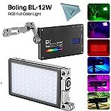 Boling BL-P1 12W RGB Build-in Battery Led On Kamera Licht Pocket Size Bi-Color 2500K-8500K...