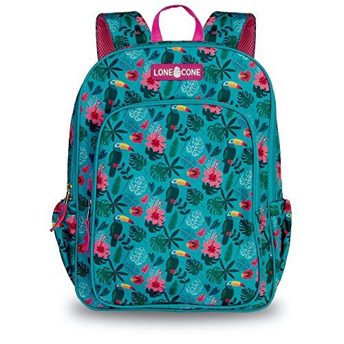 LONECONE Kids' 15' Backpack for Boys & Girls in Preschool, Kindergarten, Toucan Tango