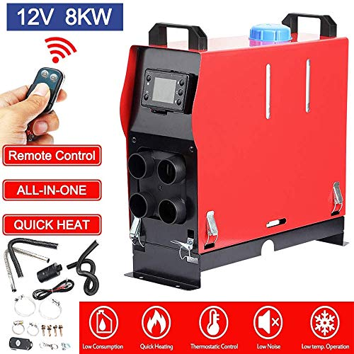 One Outlet Hole Car Trailer 2KW 12V Parking Heater Boat with LCD VEVOR Diesel Air Heater Mini All in One Truck Heater Remote Control Motorhomes For RV Truck Bus Fast Heating Diesel Heater