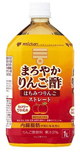 スマートマットライト ミツカン まろやかりんご酢 はちみつりんご ストレート 1000ml×6本 機能性表示食品