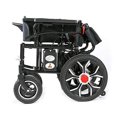 WangXN Opvouwbare elektrische rolstoel, 4 wielen, intelligente automatische scooter, 12 A lithium batterij