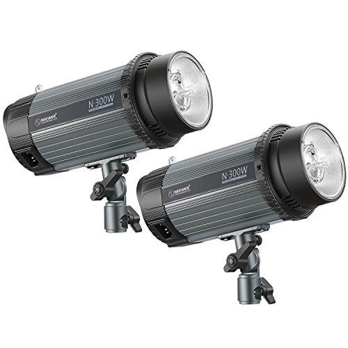Neewer Studioblitz 2-Pack 300W 5600K Foto Studio Strobe Blitzlicht Monolight mit Modelier-Lampe, Aluminiumlegierung Speedlite für Studios Modell...