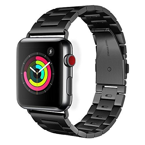 Pinhen HOCO, cinturino di ricambio per Apple Watch S440-44mm, rimovibile e veloce da togliere, bracciale a maglie in acciaio inox, adatto a Apple Watch Series 4321