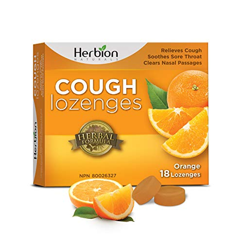 Herbion Naturals - Pastiglie per la tosse al gusto di arancia (Cough lozenges - Orange flavou) r - 18 counts
