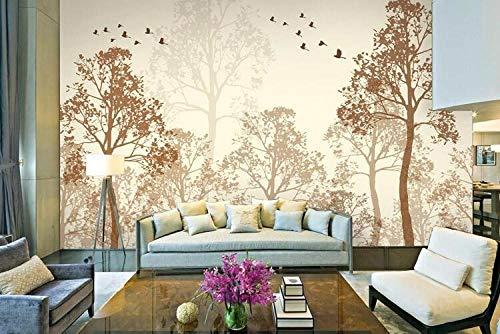 Wandbild Hintergrundbild Fotoblitz Klassische Einfachheit Trübe Schönheit Vogel Baum Kunst Tapeten Wandbild Tapetenmalerei Für Wohnzimmer-300 * 210Cm