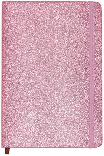 Cuaderno Purpurina Rosa - 120 Páginas Con Líneas