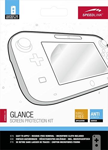 Speedlink beschermfoliekit voor Wii U - GLANCE Screen Protection Kit (Volledige kleurglans - Veilige bescherming tegen krassen - bellen aan te brengen - zonder resten te verwijderen)