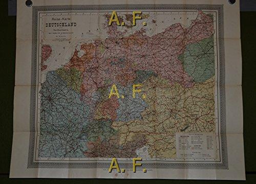 Reise-Karte von Deutschland und den Nachbarstaaten, 1 : 2.150.000 (ca. 89 x 71 cm)