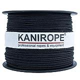 Kanirope® Polyesterseil Seil Polyester POLYBRAID 1mm 100m Schwarz geflochten