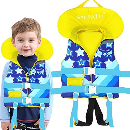 IvyH Chaleco de Natación Niño, Chaleco Flotante Bebe Chaleco Flotación Impresión Deportes Acuáticos de Verano Chaleco de Entrenamiento para Niños Niñas(Azul S/M)