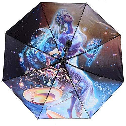 NJSDDB paraplu Twaalf constellatie paraplu super sterke anti-UV zon paraplu regen vrouw man paraguas kinderen paraplu vrouwelijke parasol student, Weegschaal