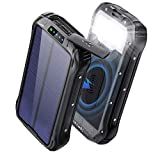 Cargador Solar Movil 26800mAh / 30000 mAh Power Bank Solar Carga Rapida Bateria...
