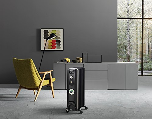 radiant oil heater in a modern room