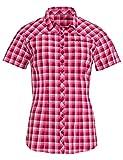 VAUDE Tacun - Camisa para Mujer, Mujer, Blusa de Camisa, 40881, Rojo carmesí, 36