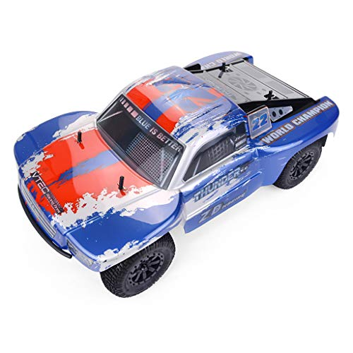 RONSHIN Models for ZD Racing Thunder SC-10 1/10 2.4G 4WD 55Km/h RC Car Electric Electricless Brushless Short Course Vehicle RTR Blue red