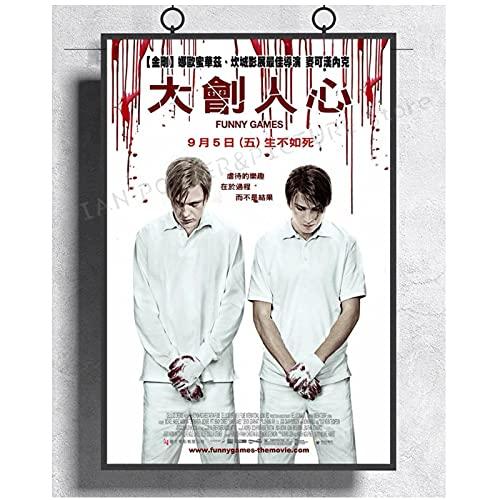 Juegos divertidos Película Horror Thriller Naomi Watts carteles e impresiones japoneses raros para la decoración del hogar del dormitorio -50x70cm sin marco