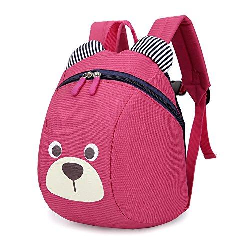 Luerme Kinderrucksack Kleinkind Jungen Mädchen Kindergartentasche Niedlich Cartoon Bär Backpack Schultasche Rucksack, Rosig