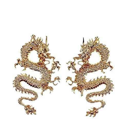 TeRIydF Orecchini da Donna in Metallo con Orecchini a Forma di Drago