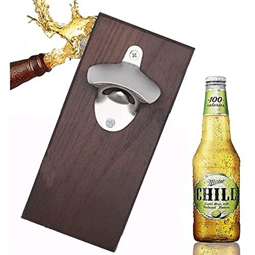 mengger Apribottiglie da Parete Magnetico Ghisa Vintage Una Facile Installazione per Stile Birra Soda Opener