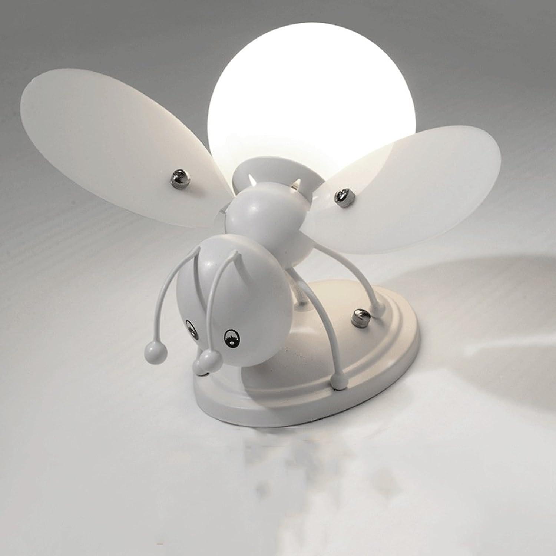 Moderne LED Wandleuchte Mode Schmiedeeisen Wandleuchte Glaswandleuchte Kreative Biene Wandleuchte Schlafzimmer Restaurant Wanddekoration Lampe (Farbe   C)