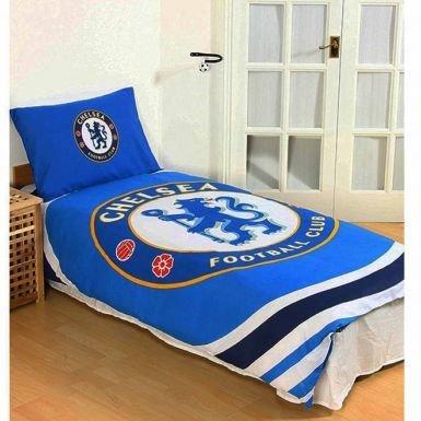 Offizielles Chelsea FC Einzelbett-Bettbezug-Set mit Kissenbezug, wendbar
