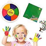 Peinture Enfant, Kit de Peinture au Doigt, Peinture Doigt Enfant Lavable, Six-Color Peinture Acrylique Enfant, Sûr, Non Toxique et Lavable, Adapté aux Cadeaux pour Enfants et au DIY Artisanat