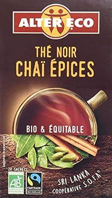 Alter Eco Thé Noir Chai Aux Épices Bio et Équitable 20 infusettes - Lot de 4